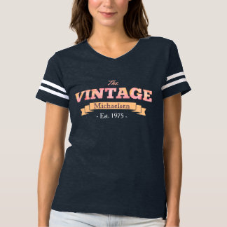 Vintage Personalized Pink T-shirt