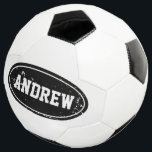 """Vintage personalized soccer ball with custom name<br><div class=""""desc"""">Vintage personalized soccer ball with custom name. Kids toys. Cute Birthday gift idea for boys and girls who love playing soccer / football. Sports typography design. Add your own name, quote or monogram. Make your own fun favor for a children&#39;s Birthday party. Add your own text for grandson, son, grandchild,...</div>"""