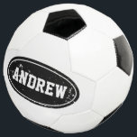 """Vintage personalized soccer ball with custom name<br><div class=""""desc"""">Vintage personalized soccer ball with custom name. Kids toys. Cute Birthday gift idea for boys and girls who love playing soccer / football. Sports typography design. Add your own name, quote or monogram. Make your own fun favor for a children's Birthday party. Add your own text for grandson, son, grandchild,...</div>"""