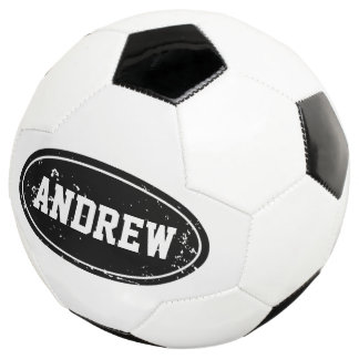Vintage personalized soccer ball with custom name