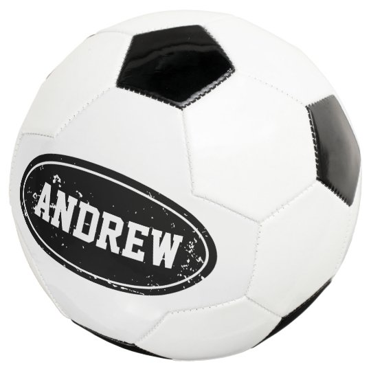 Vintage Personalized Soccer Ball With Custom Name Zazzlecom