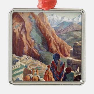Vintage Peru of the Incas via Pan American Travel Metal Ornament