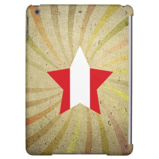 Vintage Peruvian Flag Swirl iPad Air Cover
