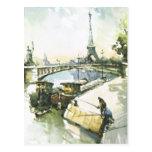 Vintage pesca de París, París en el Sena Postales