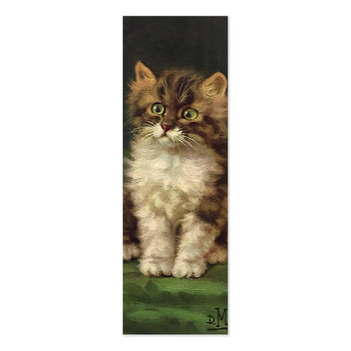 Vintage Pet Animals, Cute Striped Tabby Cat Kitten Business Cards