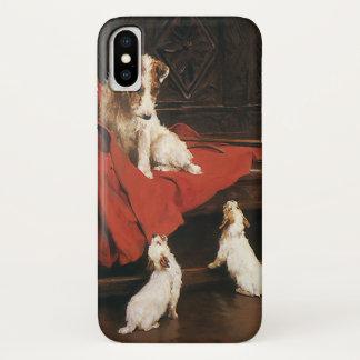 Vintage Pet Animals, Jack Russel Terrier Dogs iPhone X Case