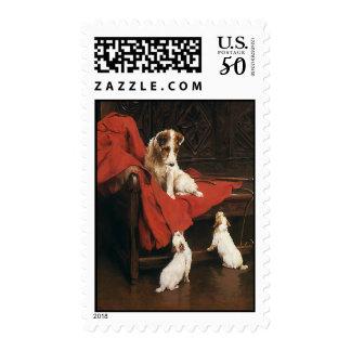 Vintage Pet Animals, Jack Russel Terrier Dogs Postage