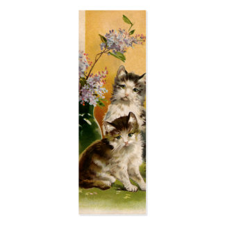 Vintage Pet Animals Victorian Cats Kittens Flowers Business Card Templates