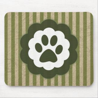 vintage pet paw mouse pad