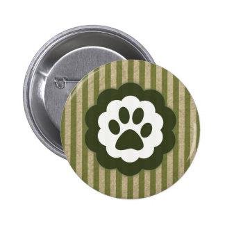 vintage pet paw pinback button