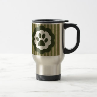 vintage pet paw travel mug