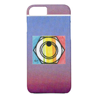 """Vintage """"Peter Max 60s"""" colorful target iPhone 7 c iPhone 8/7 Case"""