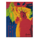 Vintage Peter Max style Statue of liberty Poster