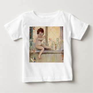 Vintage Peter Pan at window - fairies Baby T-Shirt