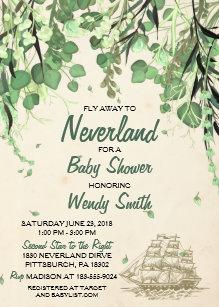Vintage baby shower invitations zazzle vintage peter pan neverland baby shower invitation filmwisefo