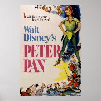 Vintage Peter Pan Póster