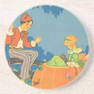 Vintage Peter Peter Pumpkin Eater Nursery Rhyme Beverage Coaster