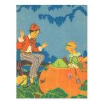 Vintage Peter Peter Pumpkin Eater Nursery Rhyme Postcards