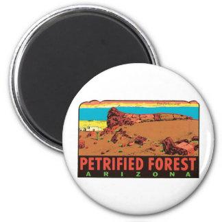 Vintage Petrified Forest Arizona AZ State Label Refrigerator Magnet