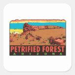 Vintage Petrified Forest Arizona AZ State Label Sticker