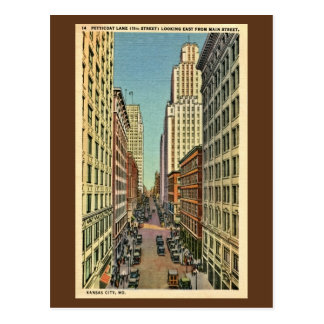 Vintage Petticoat Lane Kansas City, MO Postcard