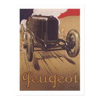 Vintage Peugeot Ad 3 Postcard