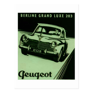 Vintage Peugeot Ad Altered - Green Postcard