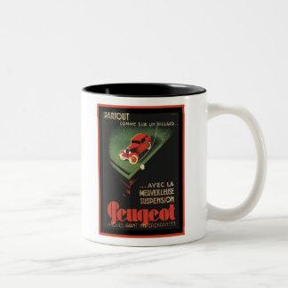 Vintage Peugeot Ad - Partout Comme sur un billard Mug
