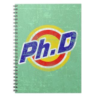 Vintage Ph.D o PhD o doctor de la filosofía Libreta