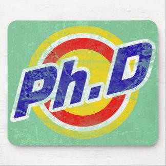 Vintage Ph.D o PhD o doctor de la filosofía Tapetes De Ratones