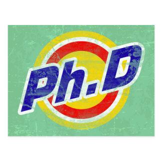 Vintage Ph.D o PhD o doctor de la filosofía Tarjeta Postal