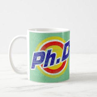 Vintage Ph D o PhD o doctor de la filosofía Tazas