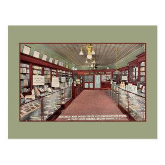 Vintage Pharmacy drugstore interior Bound Brook NJ Post Card
