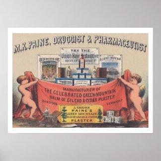Vintage Pharmacy Poster