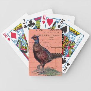 Vintage Pheasant Bicycle Playing Cards