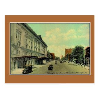 Vintage Philadelphia Broad Street, Opera House Postcard