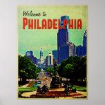 Vintage Philadelphia Travel Poster