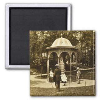 Vintage Philly 1902 del parque de Fairmount Imán Cuadrado