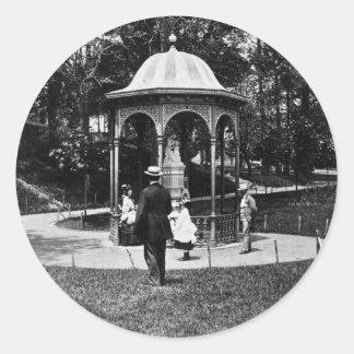 Vintage Philly CA 1900-1910 del parque de Pegatina Redonda