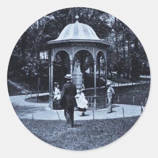 Vintage Philly CA 1900-1910 del parque de Pegatinas Redondas