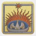 Vintage Phoenix de levantamiento Firebird Pegatina Cuadrada