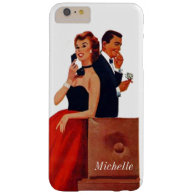 Vintage Phone Couple white Iphone 6 Plus Barely There iPhone 6 Plus Case
