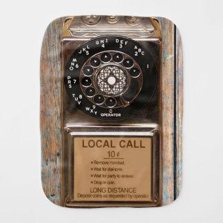 Vintage phone dial telephone rotary antique burp cloth