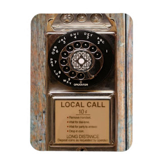 Vintage phone dial telephone rotary antique magnet