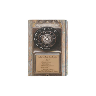 Vintage phone dial telephone rotary antique passport holder