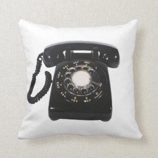 Vintage Phone Reversible Throw Decor Pillow
