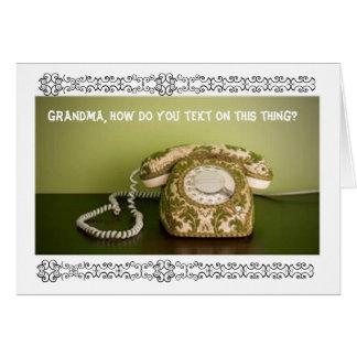 Vintage Phone - Texting Greeting Card