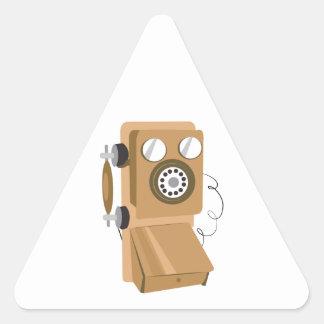 Vintage Phone Triangle Sticker