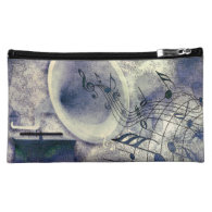 Vintage Phonograph and Music Cosmetic Bags