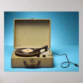 Vintage Phonograph Poster